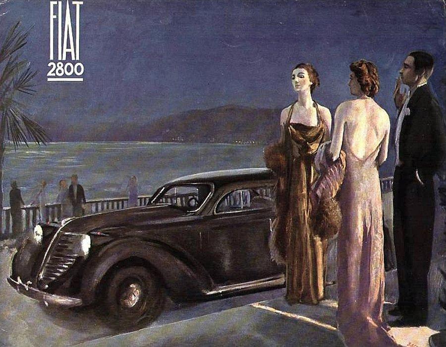Fiat 2800 Locandina pubblicitaria