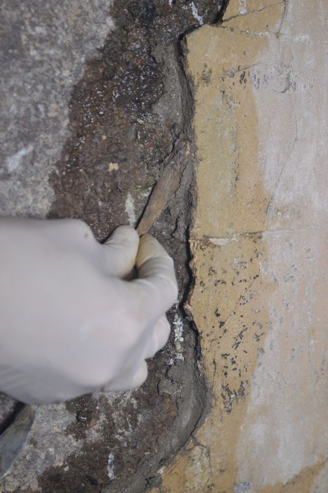 stuccatura restauro bunker villa ada torlonia