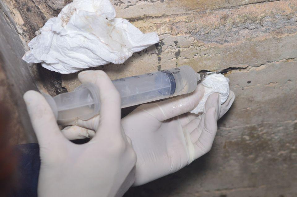 Iniezioni restauro bunker villa ada torlonia