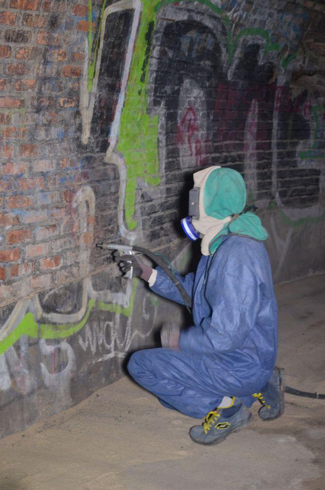Sabbiatrice pulizia bunker villa ada savoia